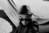 You talkin to me (zuhmha) Tags: marseille france portrait autoportrait monochrome visage face sunglasses lunettesnoires line lignes courbes curve head tête people personnes human humain gens hat chapeau personne posture pose personnalshoot