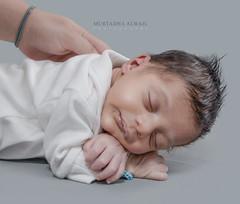 Nephew #4 joined the family (Murtadha Alwail) Tags: adil family grey portrait studio baby nephew sister