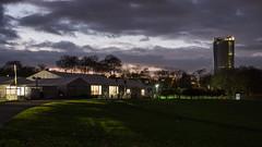 Last dawn over Bonn Zone (lars_uhlig) Tags: 2017 bonn deutschland germany cop23 rheinaue abend evening sunset dawn dämmerung park posttower himmel wolken