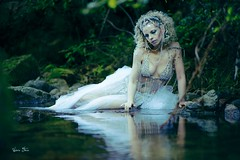 "TEATRONATURA ""The nymph of water crystals"" (valeriafoglia) Tags: makeup model nymph white woods water crystals river stylist spirit photography photo pretty art fantasy fairy creative composition capture colors nature"