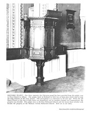 First reformed church pulpit.  the oldest pulpit in america (albany group archive) Tags: dutch reformed 1600s beverwyck old albany ny vintage photos picture photo photograph history historic historical
