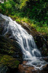 Waterfall - A monsoon drive through kerala forest area. (Ramesh Kurup) Tags: fujifilm 1655 waterfall monsoon kerala fuji xt2 green rock gavi moozhiyar forest