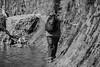 balance (jellamalo) Tags: nature hike river adventure blakandwhite