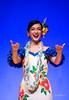 Tokyo Disneyland 2017 15 - Hostess of Mickey's Rainbow Luau (JUNEAU BISCUITS) Tags: nikond810 nikon themepark tokyodisneyland disney mickeysrainbowluau aloha hawaii show adventureland waltdisney muumuu