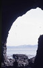 Cave on south Eigg, 1987 (Mary Gillham Archive Project) Tags: 12018 1987 eigg geology island landscape nm4783 scotland unitedkingdom gb