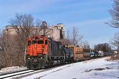 NYS&W 3668                  4-06 (C E Turley) Tags: railway railroad alco m636 nysw