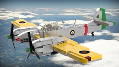Tempest Mk.Ib/l (Lego Pilot) Tags: lego ldd blender plane fighter interceptor interbellum tempest aircraft achtfaden xf5f skyrocket grumman xp50