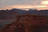 From Delicate Arch (Dylan H, from the road) Tags: northamerica usa utah archesnationalpark np landscape west desert sunset color colour canyon mountain sky mesa cloud