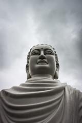 Serious Buddha (Kariido85) Tags: buddha serious ho chi minh statue saigon vietnam asia sky blue clouds travel