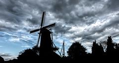 Agneta (Jorden Esser (on a break)) Tags: sunday agneta ruurlo clouds silhouette sliderssunday windmill hss nederlandvandaag sawmill windmillwednesday