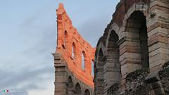 VERONA. (Salvatore Lo Faro) Tags: verona veneto italia italy teatro arena anfiteatro romano romani cielo tramonto rosso fuoco salvatore lofaro canon g16