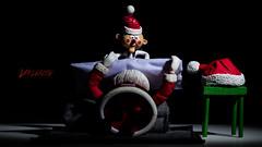Misfits in Da Hood: Smothering Santa (Dennis Valente) Tags: 5dsr misfittoys dolls toys actionfigure posed articulating islandofmisfittoys parody 2017 macro santaclaus articulated charlieinthebox christmas rudolphtherednosedreindeer santa toyphotography posable northpole einsteine640 snoot