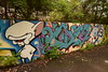 OC (TheGraffitiHunters) Tags: graffiti graff spray paint street art colorful bum trail riverwalk new jersey nj cement wall oc character pinky brain