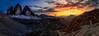 Ménage à trois (One_Penny) Tags: dolomiten italy dolomites hiking landscape mountains nature outdoor photography panorama peaks sunset sun sky colors colorful evening sundown clouds trecime trecimedilavaredo threepeaksoflavaredo menageatrois view scenery sexten snow rocks dreizinnen