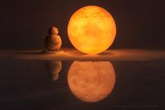 SOLEDAD LUNAR (sgsierra) Tags: star wars bb8 luna nieve snow bodegón luz soledad reflejo
