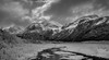 A chill in the air (Traylor Photography) Tags: alaska eagleriver spring landscape monochrome eaglerivernaturecenter panoarama mountains ice cold snow blackandwhite winter clouds anchorage unitedstates us
