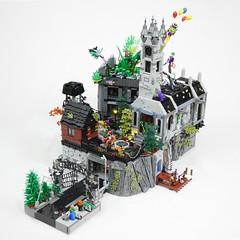 LEGO Arkham Asylum MOC (TheBrickDen) Tags: legocreation moc asylum arkham arkhamasylum dccomics batman legobatman lego