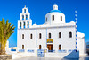 Church in Santorini Greece (Daveyal_photostream) Tags: greece santorini nikon nikor bluesky sky bluedome cross d600 meandmygear mygearandme mycamerabag beautiful beauty bells building white architecture tower belltower wall gate religion windows dome bell