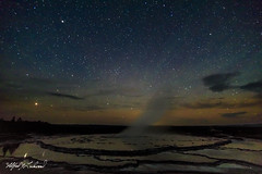 Starry Night At Great Fountain Geyser_27A0781 (Alfred J. Lockwood Photography) Tags: alfredjlockwood nature landscape nightscape stars summer greatfountaingeyser fireholelake yellowstonenationalpark geothermalpool nightsky wyoming