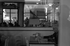 2017♦316 (ruggeroranzani_RR) Tags: analog blackandwhite 35mm film rolleisuperpan200 adoxaph09 leicam6 people myself reflection mirror throughthewindow bassanodelgrappa leicaelmarm12850