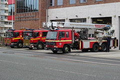 Southport Fire Station (Liam Blundell Photography) Tags: merseyside fire rescue service southport engine dk61eet m33p1 m33p2 m33a1 scania dk55hna angloco r585dfm cpl pump ladder station truck volvo fl10
