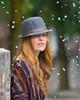Beauty in the Snow. (Omygodtom) Tags: redheads girl digital dof d7100 snow smile blur outdoors outside portrait posing natural nikon nikkor diamond star nikon70300mmvrlens red