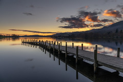 Stunning Sunset, Monk Pier, Coniston, Lake District (MelvinNicholsonPhotography) Tags: coniston lakes lakedistrict cumbria monkpier pier jetty woodenpier longexposure sunset melvinnicholsonphotography
