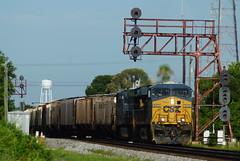 CSX Q452 AT LAKELAND, FL (railfan1967) Tags: csx csxt q452 manifestfreight southlakeland lakeland florida gees40dc 5413 yn3