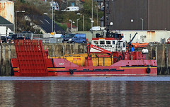 Landing craft 'Carly' (Dave Russell (1 million views thanks)) Tags: ferguson marine maritime boat ship vessel vehicle transport landing craft outdoor sea water ocean harbour harbor port kyle loch aish lochaish west western scotland moored mooring alongside afloat shipping