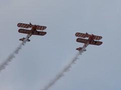 Breitling Wing Walkers (Kylie Stevens) Tags: airbourne2017 avgeeks airshow airshows airbourne avgeek aerobatics aerobaticdisplayteam displayteam display breitling breitlingteam breitlingwingwalkers wingwalkers boeing boeingstearman stearman daredevils