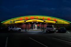 Pinarama, S. Dale Mabry Highway (Eric Seibert) Tags: ericseibert dusk twilight bluehour neon vernaculararchitecture shootinginthedark nightphotography bowling tampaflorida
