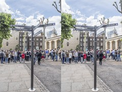 Sign at the Tower of London (Teddy Alfrey) Tags: 3d stereo crosseyed
