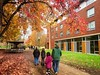Walking on Campus (pete4ducks) Tags: eugene oregon universityoforegon campus college university 2017 fall autumn evie mady larry jill on1pics hdr leaves evangeline madelyn grandparents family walking nature outdoors students oregonducks