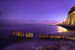Calmness (ESTjustPHOTO - Elias S Tilavgi) Tags: larnaca cyprus castle purple night long exposure slow shutter speed world flickr