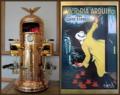 The Magnificent, Magical Coffee Machine (Mary Faith.) Tags: arduino vintage coffee machine art craft copper beaten victoria picture hand made collage