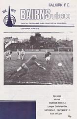 Falkirk vs Partick Thistle - 1976 - Cover Page (The Sky Strikers) Tags: falkirk partick thistle brockville scottish league one bairns view official programme 10p division