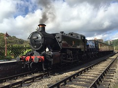 Pannier 1501 on shuttle train Levisham 30Sep17