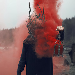 Sacred pt. II (Kavan The Kid) Tags: kavan kid photography photoforge cardoza self portrait strange surreal weird fine art photo death beauty surrealism conceptual concept smoke red mask