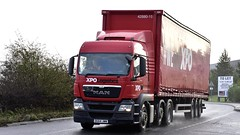 DG64 JWW (Martin's Online Photography) Tags: man tgx truck wagon lorry vehicle freight haulage commercial transport curtainsider appleton cheshire nikon nikond7200 xpo xpologistics