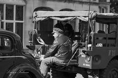 1940's American Army Jeep (Beep) and Reenactors (Lauren Taliana) Tags: beep england jeep history historical blackwhite mono bw blackandwhite 1940's nikkor elements flickr army american vintage bletchleypark reenactors