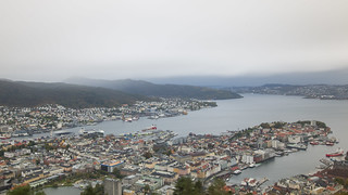 Bergen in between rough weather