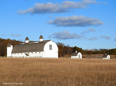 Historic D.H. Day Farm (JamesEyeViewPhotography) Tags: historic dh day farm barn sky clouds autumn fall colors trees grass sleepingbeardunes nationallakeshore northernmichigan nature november landscape jameseyeviewphotography