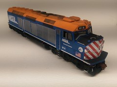 METRA 614 FR (Set and Centered) Tags: metra railroad model railroading ho scale 187 train passenger commuter emd f40c shapeways 3d printing circus city decals and graphics esu loksound electro motive divison 614 edward f brabec