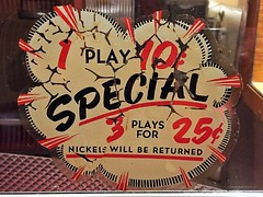 Oh! So Special! (misterbigidea) Tags: bargain decisions entertainment vintage lettering musicmachine deal special decay typevstime music decal jukebox type found explosion design