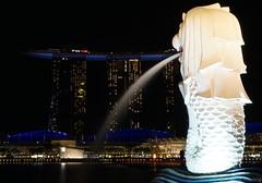 Merlion - Marina Bay Sands (CHWVB) Tags: singapur merlion marina bay sands