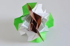 Pamphylia Kusudama (Byriah Loper) (Byriah Loper) Tags: origami modularorigami modular byriahloper byriah paperfolding paper polygon polyhedron compound complex