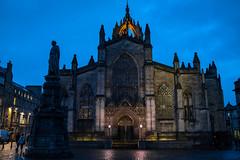 St. Giles Blue Hour (lncgriffin) Tags: edinburgh scotland unitedkingdom stgilescathedral highkirkofscotland crownsteeple johnknox scottishreformation presbyterian bluehour blueskies architecture travel sony rx1r zeiss sonnar sonnar35mmf2