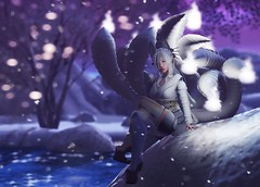 Reticent -LOTD 20 (Annika Velde) Tags: aiiuglyandbeautiful secondlife sl slfashion second life virtual 3d snowy fox