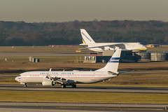 17-7564cr (George Hamlin) Tags: virginia chantilly washington dulles international airport iad united airlines boeing 737900 n75435 antonov an24 cargo freighter runway mountains trees retro continental livery colors landing roll photo decor george hamlin photography airliner aircraft