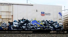 ander (timetomakethepasta) Tags: ander adr apk freight train graffiti art union pacific benching selkirk new york
